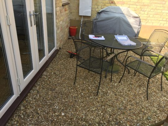 Before Rear Garden Resin Install in Peterborough