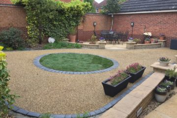 Garden Finished in Daltex Golden Quartz Resin