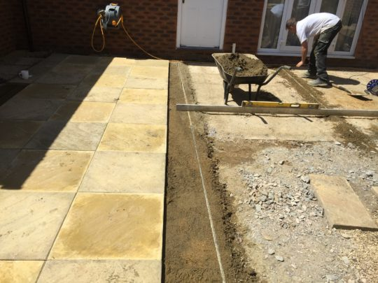 Slabs Being Re-layed with new Slabs