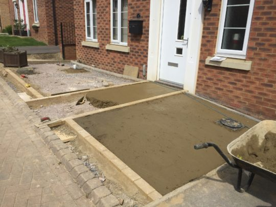Concrete Base Being Installed
