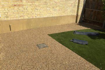 Resin Garden Install in Thorney