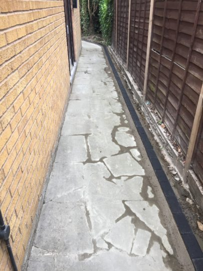 Old Crazy Paving with New Block Edgings installed