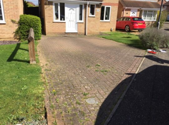 before-block-paved-driveway-in-werrington
